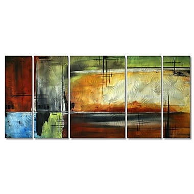 All My Walls 'On Track' by Megan Duncanson 5 Piece Graphic Art Plaque Set