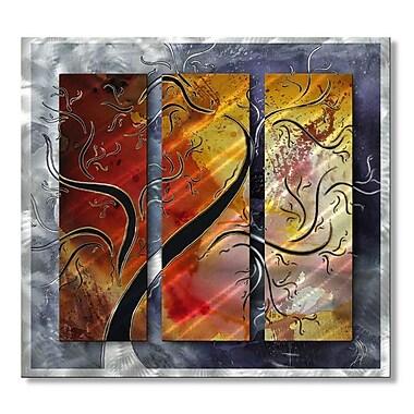All My Walls 'Golden Sunrise' by Megan Duncanson 3 Piece Graphic Art Plaque Set
