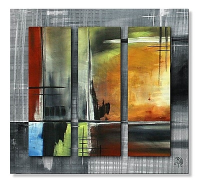 All My Walls 'On Track III' by Megan Duncanson 3 Piece Graphic Art Plaque Set