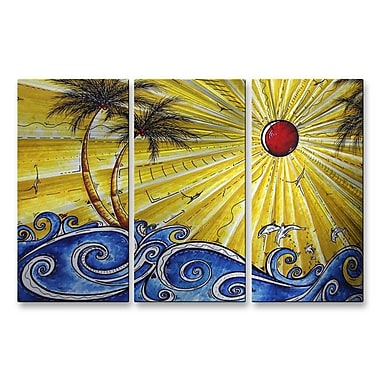 All My Walls 'Ocean Fury' by Megan Duncanson 3 Piece Graphic Art Plaque Set