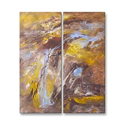 All My Walls 'Time Is on My Side' by Mary Lea Bradley 2 Piece Painting Print Plaque Set