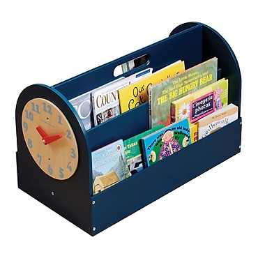 Tidy Books Portable Book Display; Teal Blue