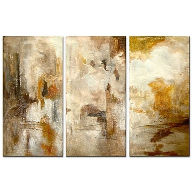 All My Walls 'Sandy Abstract' by Angelika Mehrens 3 Piece Painting Print Plaque Set