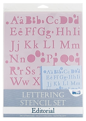 Alvin and Co. Editorial Lettering Stencil Set