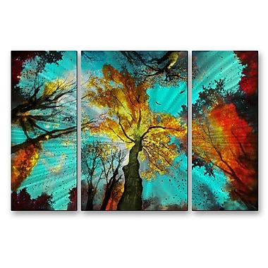 All My Walls 'Evening Celebration' by Gina Signore 3 Piece Painting Print Plaque Set