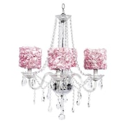 Jubilee Collection Middleton 4-Light Crystal Chandelier; Pink