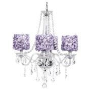 Jubilee Collection Middleton 4-Light Crystal Chandelier; Lavender