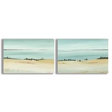 Stupell Industries Beautiful Sandy Beach Horizon 2 Piece Wall Plaque Set