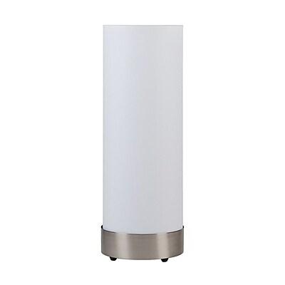 Lights Up! Meridian Demi 30'' Column Floor Lamp; White Linen
