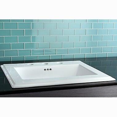 Kingston Brass Concord Self Rimming Bathroom Sink; 8'' Centers