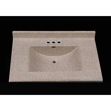Satin Stone Center Wave 31'' Single Bathroom Vanity Top