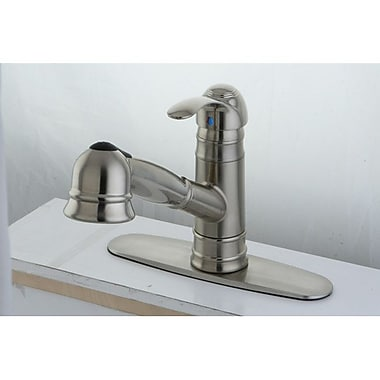 Kingston Brass Eden Gourmetier Pull-Out Kitchen Faucet; Satin Nickel
