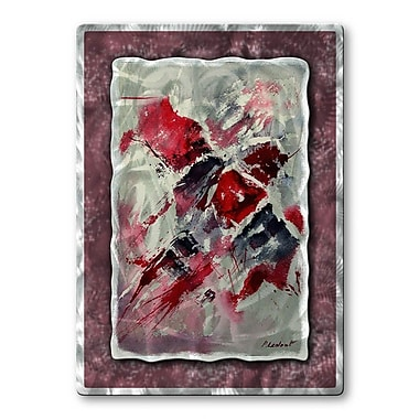 All My Walls 'Crimson Feeling' by Pol Ledent Painting Print Plaque