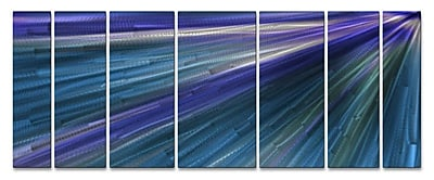 All My Walls 'In The Blue Light' by Ash Carl 7 Piece Graphic Art Plaque Set WYF078276492837