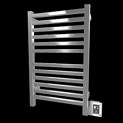 Amba Quadro Wall Mount Electric Towel Warmer; Polished
