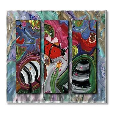 All My Walls 'Avant Garden' by Jerry Clovis 3 Piece Painting Print Plaque Set