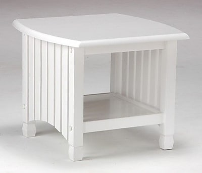 Night & Day Keywest End Table in White