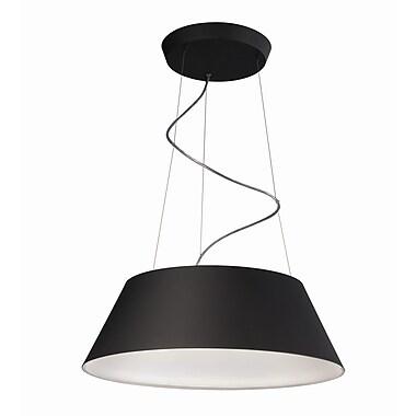 Philips Cielo 4-Light Drum Pendant; Black