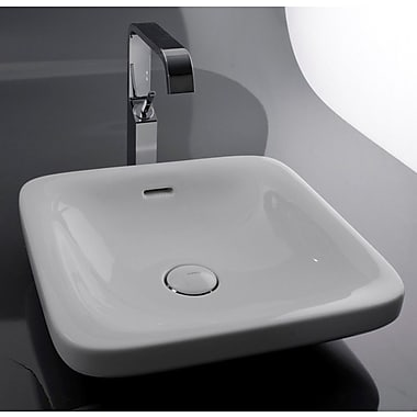 WS Bath Collections Start Ceramic Square Vessel Bathroom Sink