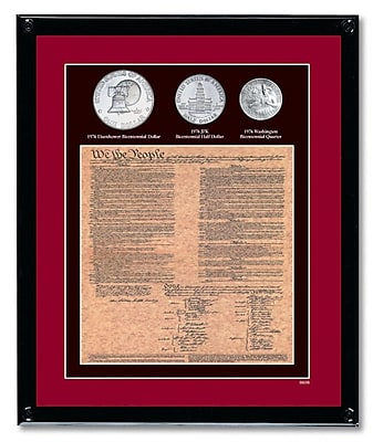 American Coin Treasure U.S. Constitution w/ All 3 Bicentennial Framed Memorabilia