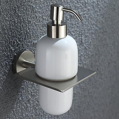 Kraus Imperium Wall Mount Ceramic Soap Dispenser; Brushed Nickel