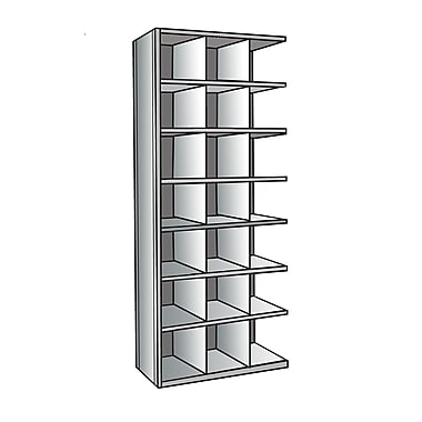 Hallowell Hi-Tech Bin 87'' H 7 Shelf Shelving Unit Add-on; 24'' D