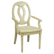 AA Importing Arm Chair; Antique White
