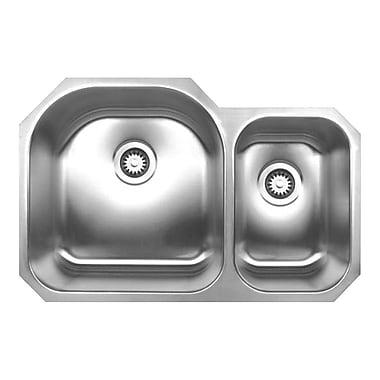 Whitehaus Collection Noah's 31.5'' x 20.75'' Chefhaus Double Bowl Undermount Kitchen Sink