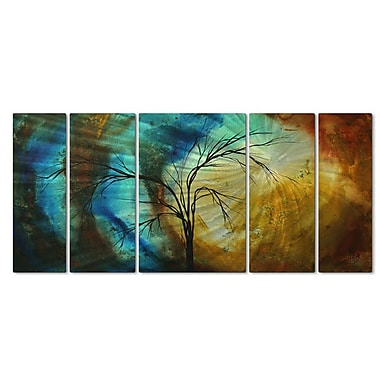 All My Walls 'New Season' by Megan Duncanson 5 Piece Painting Print Plaque Set
