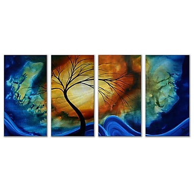 All My Walls 'Complimentary Growth' by Megan Duncanson 4 Piece Graphic Art Plaque Set