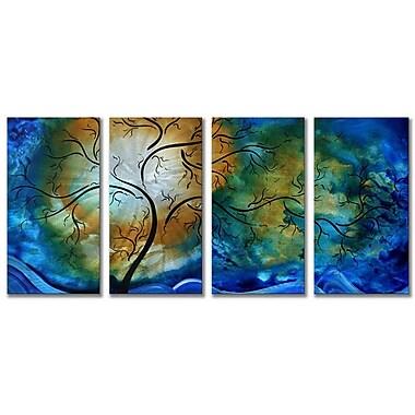 All My Walls 'Deep Sky' by Megan Duncanson 4 Piece Graphic Art Plaque Set
