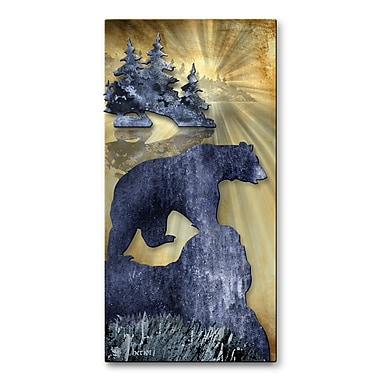 All My Walls 'Bear' by The Lake by Josh Heriot Graphic Art Plaque