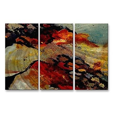 All My Walls 'Sedimentary II' by Pol Ledent 3 Piece Graphic Art Plaque Set