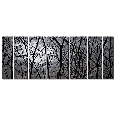 All My Walls 'Moon Light' by Justin Strom 7 Piece Graphic Art Plaque Set