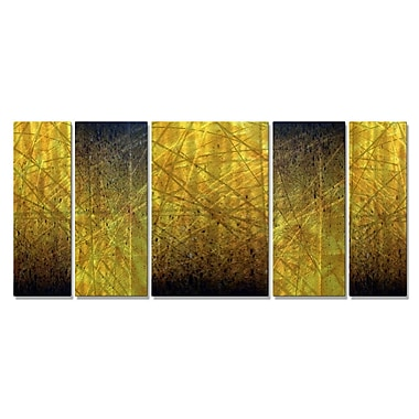 All My Walls 'Embers' by Justin Strom 5 Piece Graphic Art Plaque Set