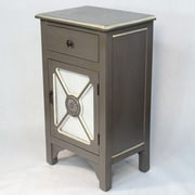 Heather Ann Wooden Cabinet w/ Mirror Insert; Dark Gray