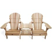 All Things Cedar Adirondack Tete-a-Tete Seating Group