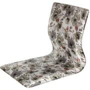 Oriental Furniture Tatami Floral Meditation Fabric Lounge Chair