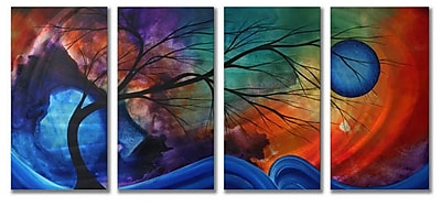 All My Walls 'Cosmic Collision' by Megan Duncanson 4 Piece Painting PrintPlaque Set