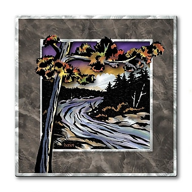All My Walls 'River Runs Wild' by Josh Heriot Graphic Art Plaque