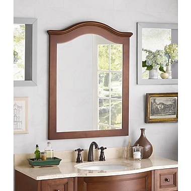 Ronbow Traditions Marcello Style Framed Mirror; Colonial Cherry