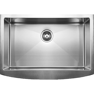 Ukinox 33'' x 22.25'' Curved Apron Front Single Bowl Undermount Kitchen Sink