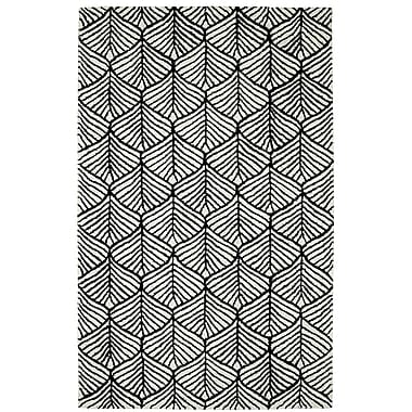 Dynamic Rugs Palace Black/White Area Rug; 5' x 8'