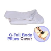 Deluxe Comfort White Cotton Cover for C - Full Body Pillow