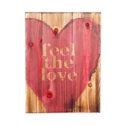 Holly & Martin Swoon ''Feel The Love'' Textual Art Plaque