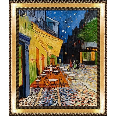 Tori Home Cafe Terrace at Night by Vincent Van Gogh Framed Painting Print