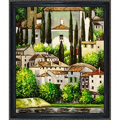 Tori Home Church in Cassone by Gustav Klimt Framed Painting