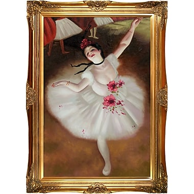 Tori Home Star Dancer by Edgar Degas Framed Painting