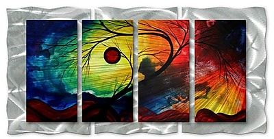 All My Walls 'Rainbow Night' by Megan Duncanson 4 Piece Graphic Art Plaque
