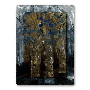 All My Walls 'Blue Efflorescence' by Ruth Palmer Painting Print Plaque